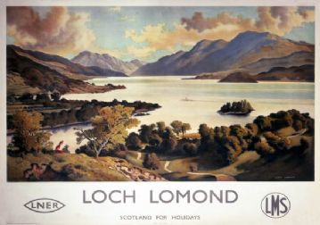 Loch Lomond, Dunbartonshire. LNER/LMS Vintage Travel Poster by Patrick James MacIntosh